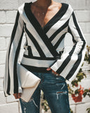 Risky Business Wrap Knit Top