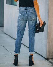 Jodie High Rise Distressed Girlfriend Denim