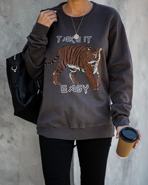 Tiger Take It Easy Cotton Blend Sweatshirt