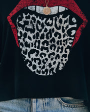 Feline Frisky Cropped Knit Top
