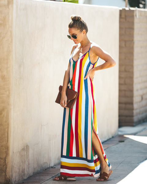 Color My World Striped Maxi Dress
