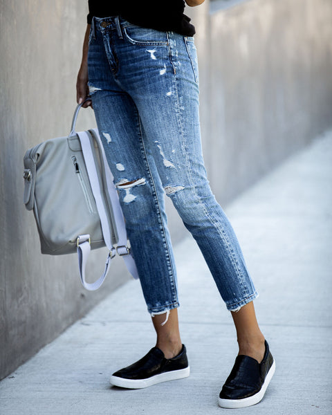 Franklin Distressed Boyfriend Denim - FINAL SALE