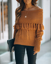 Tianna Off The Shoulder Tassel Sweater