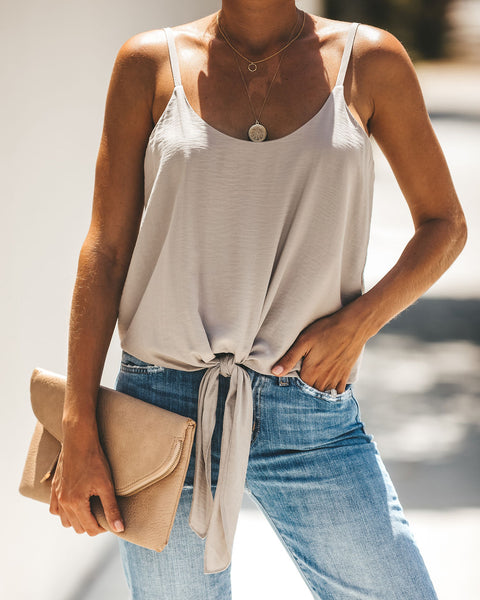 Go Getter Tie Tank - Taupe