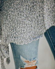 Sealed With A Bow Chunky Knit Sweater - Grey view 4