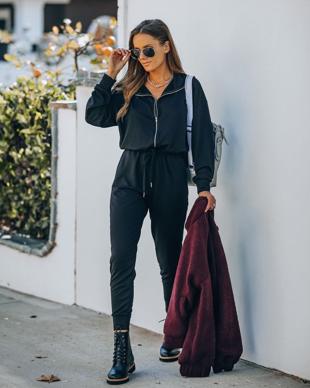 Athleisure Pocketed Knit Jumpsuit view 5