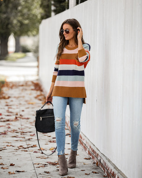 Reynolds Cotton Blend Striped Sweater  - FINAL SALE