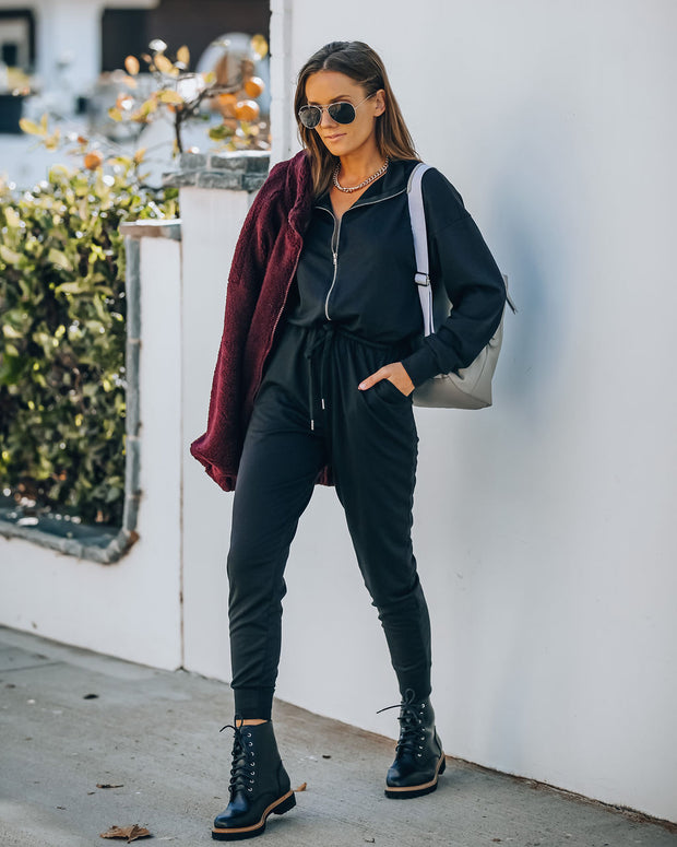 Athleisure Pocketed Knit Jumpsuit view 7