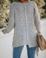 Sealed With A Bow Chunky Knit Sweater - Grey view 2