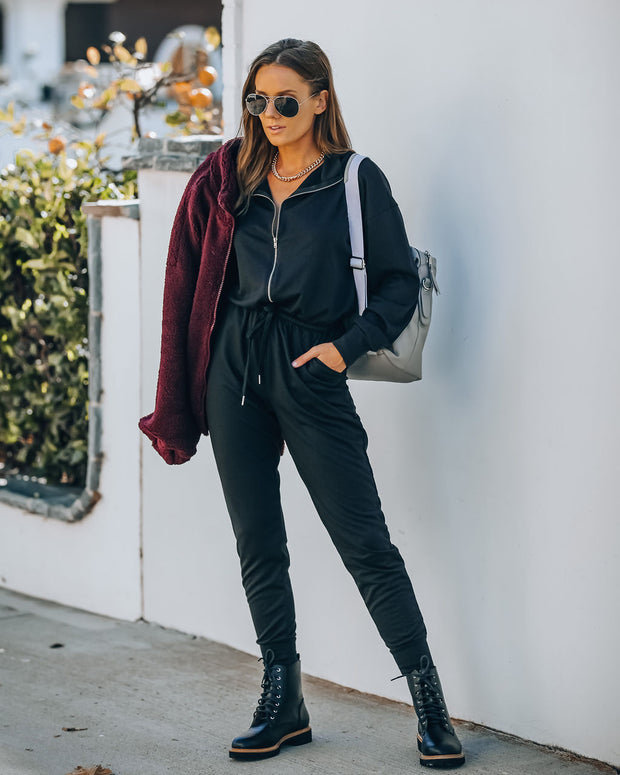 Athleisure Pocketed Knit Jumpsuit view 8