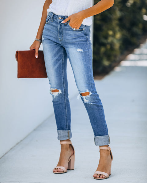 Lexi High Rise Distressed Skinny - FINAL SALE