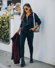 Athleisure Pocketed Knit Jumpsuit view 3