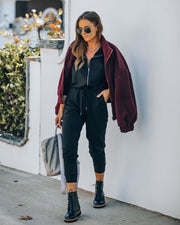 Athleisure Pocketed Knit Jumpsuit view 9
