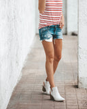 Speed Up Cotton Striped Tank