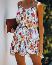 Better Than Ever Floral Rope Tie Mini Dress view 8