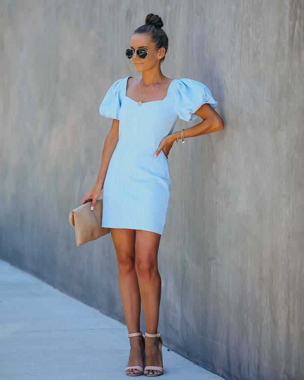 Rudi Cotton + Linen Puff Sleeve Dress