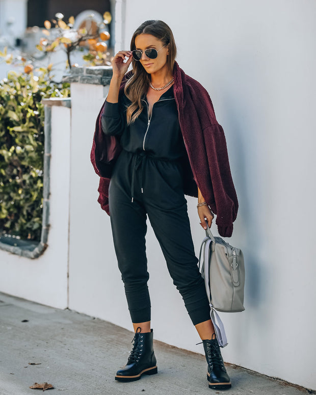Athleisure Pocketed Knit Jumpsuit view 10