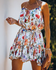 Better Than Ever Floral Rope Tie Mini Dress view 9