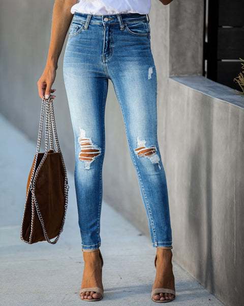 Turnout High Rise Distressed Skinny - FINAL SALE