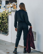 Athleisure Pocketed Knit Jumpsuit view 2