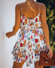 Better Than Ever Floral Rope Tie Mini Dress view 2