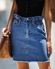 The Deep End Pocketed Denim Skirt - Dark Wash - FINAL SALE view 3