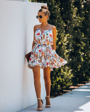 Better Than Ever Floral Rope Tie Mini Dress view 1