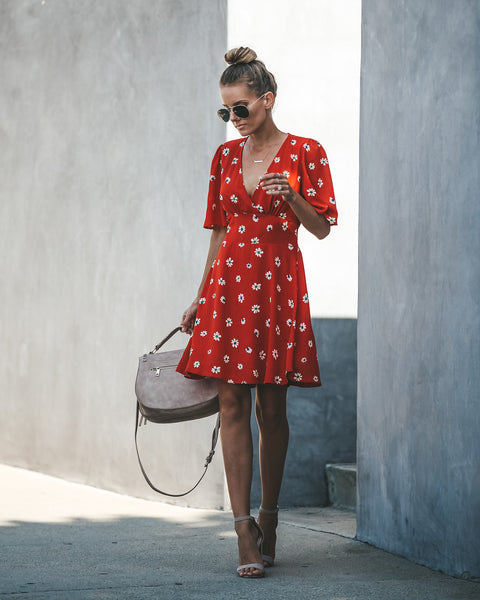 In Good Hands Floral Short Sleeve Dress - FINAL SALE