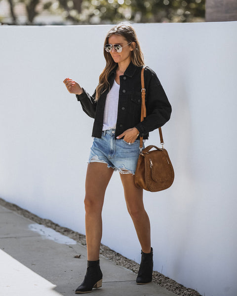 Mcgraw Cropped Denim Jacket