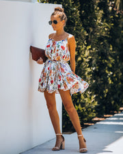 Better Than Ever Floral Rope Tie Mini Dress view 6
