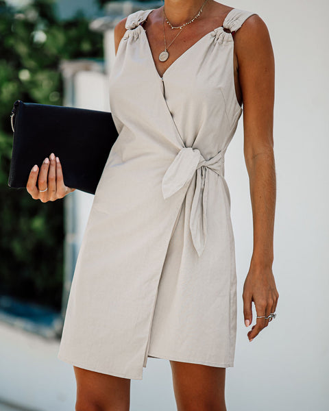 A Million Miles Cotton + Linen Wrap Dress - FINAL SALE