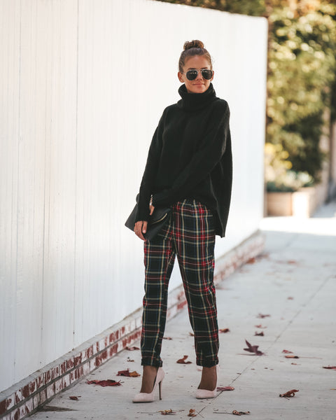 Carrie Plaid Pocketed Pants