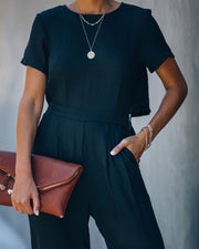 First Class Pocketed Jumpsuit - Black view 4