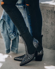 Motorway Studded Heeled Chelsea Boot