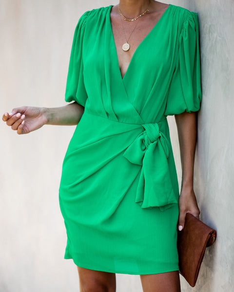 Lucky Charm Drape Tie Dress - FINAL SALE