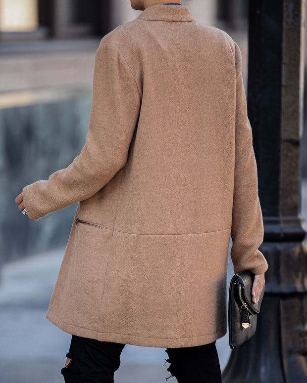 Catalog Pocketed Coat - Camel