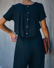 First Class Pocketed Jumpsuit - Black view 8