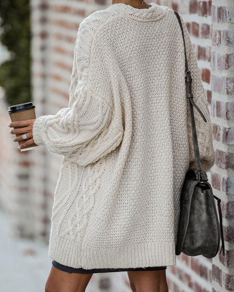 Lay Of The Land Cable Knit Cardigan  - FINAL SALE