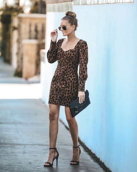 Corvette Dreams Cotton Leopard Dress
