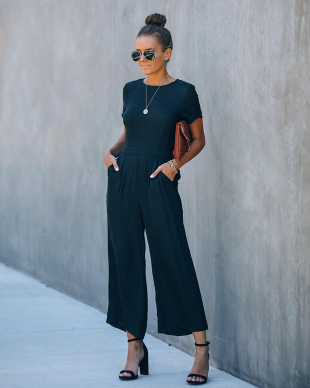 First Class Pocketed Jumpsuit - Black view 1