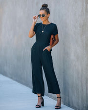 First Class Pocketed Jumpsuit - Black view 9