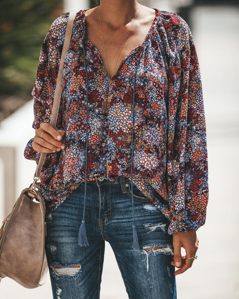 Ultra Blooms Floral Blouse