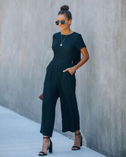 First Class Pocketed Jumpsuit - Black view 10