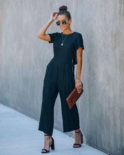 First Class Pocketed Jumpsuit - Black view 11