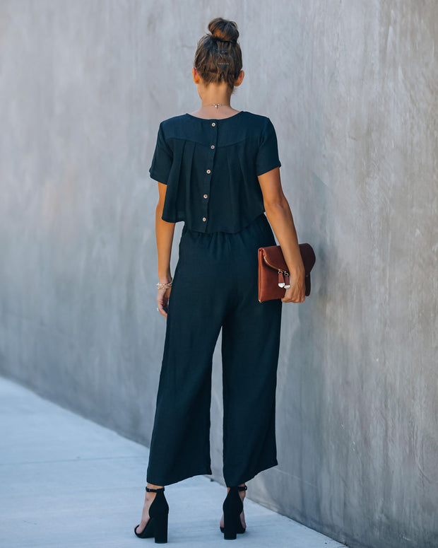 First Class Pocketed Jumpsuit - Black view 2