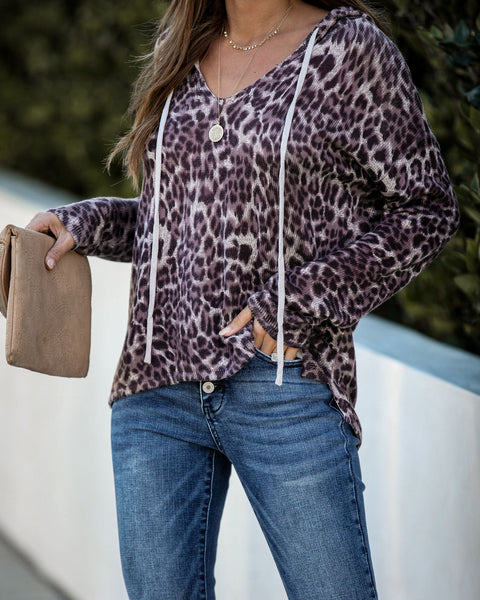 Expedition Leopard Knit Hoodie  - FINAL SALE