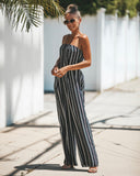 Veronica Strapless Pocketed Jumpsuit - FINAL SALE