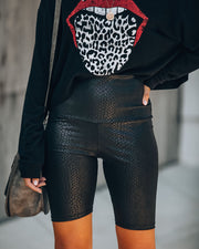 Snake Embossed Biker Shorts - FINAL SALE