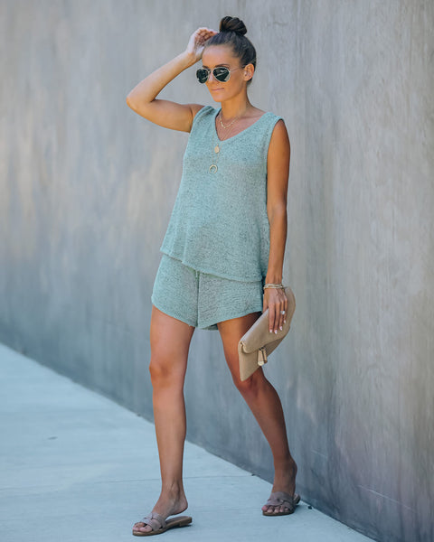Mona Knit Shorts - Sage