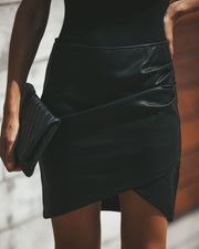 Rock + Roll Faux Leather Skirt view 2